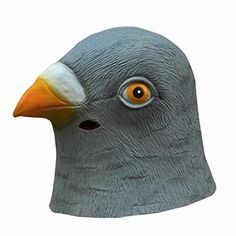 Cute Pigeon Mask Latex Giant Bird Head Halloween Cosplay Costume Theater Prop Masks for Party Birthday Decoration Animal Halloween Costumes, Creepy Costumes, Halloween Fancy Dress, Halloween Cosplay, Halloween Party, Carnival Costumes, Halloween Gifts, Cute Pigeon, Sierra Leone