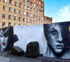 Street Art Manchester. Work by Seca_One and Pawski. Wellington Mill Paint Jam, Manchester, UK. Shot courtesy of D7606.