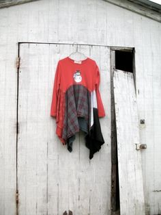 Christmas / Snowman / romantic Upcycled clothing / by CreoleSha