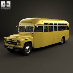 model of Chevrolet 6700 School Bus 1955 Bus Humor, Malta Bus, Motorhome, Car 3d Model, 1955 Chevy, Bus Coach, Bus Conversion, Pose Reference, Anatomy Reference