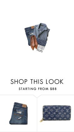 """""""Flats and Stripes"""" by hollowpoint-smile ❤ liked on Polyvore featuring Abercrombie & Fitch and Louis Vuitton"""
