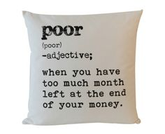 Definition - Poor - Cushions | Weylandts South Africa Weylandts, Scatter Cushions, Definitions, Words, Interior Ideas, South Africa, Future, House, Future Tense