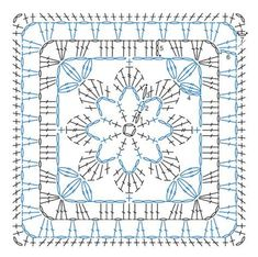 Transcendent Crochet a Solid Granny Square Ideas. Wonderful Crochet a Solid Granny Square Ideas That You Would Love. Point Granny Au Crochet, Granny Square Crochet Pattern, Crochet Blocks, Crochet Diagram, Crochet Chart, Crochet Squares, Granny Squares, Crochet Diy, Flower Granny Square