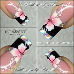 All of these nail designs are as simple as they are beautiful. If you are frequently trying to find options and innovative designs, nail art designs are a way to show off your character and also to be original. Diy Nail Designs, Beautiful Nail Designs, Beautiful Nail Art, Gorgeous Nails, Fancy Nails, Trendy Nails, Fingernail Designs, Best Acrylic Nails, Super Nails