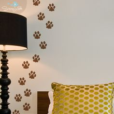 Who's the culprit with muddy paws? Track the prints! You'll love these paw prints as they don't leave a messy trail on your floors and carpets. You also get to decide where they lead! You will receive 24 individual prints.