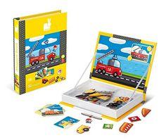 Amazon.com: Janod Vehicles Magnetibook: Toys & Games