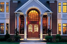 db-a412-ft-dg-2sl Aurora fiberglass doors are made to look and feel like solid wood, without any of the maintenance. Craftsman style door shown is displayed with two full glass sidelights, and decorative glass.
