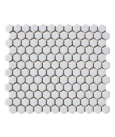 Shapes Hexagon Matt White 23x26mm Mosaic