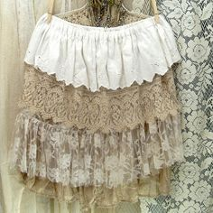 oh the layering possibilities :: Custom Skirt, Layered Ruffles, upcycled vintage fabrics by Resurrection Rags, via Flickr