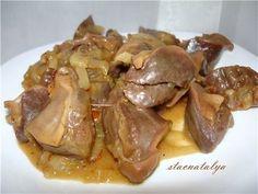 Куриные желудочки в соевом соусе | Четыре вкуса