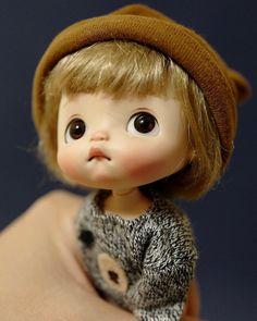 Tiny Dolls, Plush Dolls, Blythe Dolls, Doll Toys, Pretty Dolls, Cute Dolls, Cute Monster Illustration, Cute Monsters, Bitty Baby