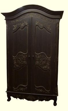 armoire furniture antique. french entertainment armoire antique black wharlequin interior furniture