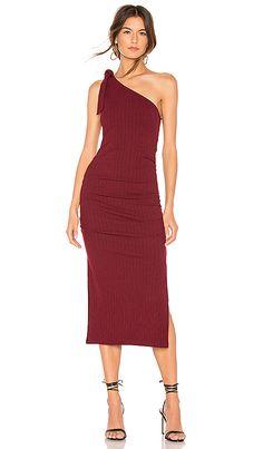 dda84af8b6c4 Privacy Please Hazel Midi Dress in Burgundy | REVOLVE Revolve Clothing, One  Shoulder, Shoulder