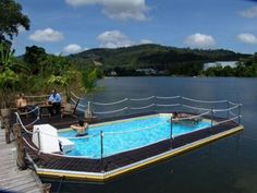 This is awesome!!its a floating swimming pool!!