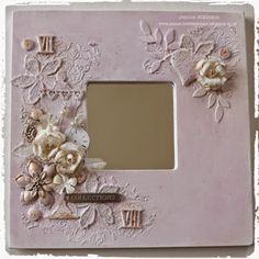 Live The Dream Jennie Atkinson Shabby Chic Altered Mirror Tim Holtz Tattered Florals and Distress Spray Stains