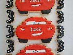 Lightening MacQueen Cookies