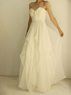 A Line wedding dress. oh my <3 so simple and elegant