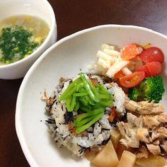 ぶり大根 マカロニポテトサラダ ひじきごはん 里芋とコーンの稗スープ 。。。むすこ 1歳9ヶ月 - 13件のもぐもぐ - 4月7日 むすこ ごはん。 by kimidori153