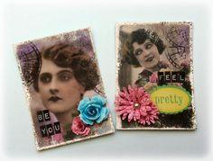Susanne Rose - Papierkleckse: Shabby Artist Trading Cards