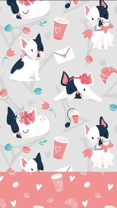 J'adore Paris - cute pattern collection with the motif of french bulldog Trendy Wallpaper, Photo Wallpaper, Mobile Wallpaper, Cute Wallpapers, Wallpaper Backgrounds, Iphone Wallpapers, Dog Wallpaper Iphone, Iphone Backgrounds, Colorful Wallpaper