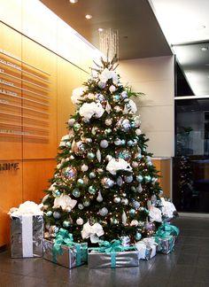 blueandsilverchristmastreelobbyrentals.jpeg by ChristmasSpecialists, via Flickr