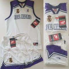 9ddf7227940 Vtg 1996 nike real madrid acb pro basketball jersey   shorts set og men s l    xl
