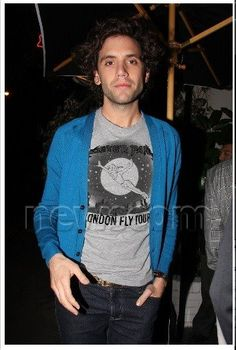 Mika in a Peter Pan shirt - February 27 2009. leaving Chateau Marmont in LA after attending a star-studded party