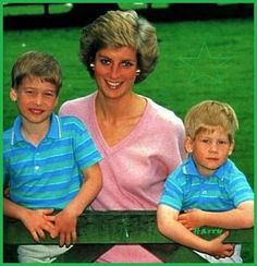 Princess Diana, Prince William and Prince Harry - 1989