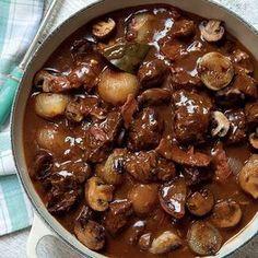 Boeuf bourguignon- Recipe: Boeuf bourguignon from the Boeuf bou. Boeuf bourguignon- Recipe: Boeuf bourguignon from the cookbo . Meat Recipes, Slow Cooker Recipes, Crockpot Recipes, Cooking Recipes, Chicken Recipes, Beef Bourguignon, Beef Dishes, No Cook Meals, Love Food