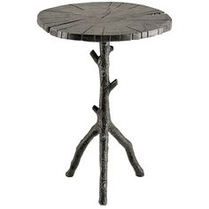 Currey and Company Swinley Antique Black Occasional Table