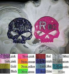 Unique Radiology x Ray Lead Markers Custom Glitter Skull Includes Adhesive | eBay