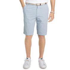 Men's IZOD Classic-Fit Seersucker Shorts, Size: 30, Brt Blue