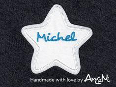 Aufnäher+Stern+m.+Namen+♥+Applikation+Wunschname+von+AnCaNi+auf+DaWanda.com