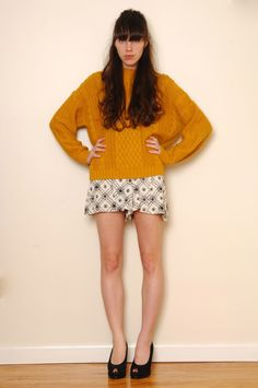 On the look out for a toasty mustard fisherman's jumper - something like this might suffice but I want more of a slash neckline