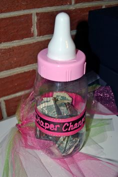 Diaper Change Baby Shower - this is an awesome idea!