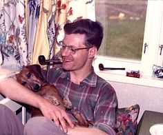 A man and his dog. Male Friendship, Family Album, Vintage Dog, Vintage Colors, Best Dogs, Ethereal, Earthy, Blessings, 1950s
