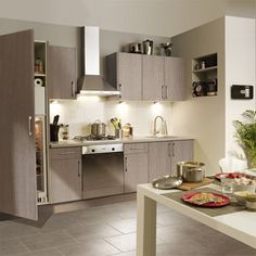 meuble de cuisine delinia composition type topaze vert. Black Bedroom Furniture Sets. Home Design Ideas