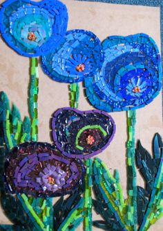 mosaic art by kat gottke. I love this... on a foundation wall would be awesome :)                                                                                                                                                     More