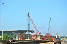Construction work on I-65 South toward Birmingham