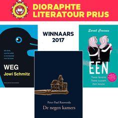 Weg van Jowi Schmitz (Hoogland van Klaveren) is door de jury bekroond met de Dioraphte Literatour Prijs 2017 in de categorie Oorspronkelijk Nederlandstalig. 'Jowi Schmitz sleurt je aan je lurven het verhaal in vanaf de allereerste pagina. De prijs in de categorie Vertaald is voor Een van Sarah Crossan, vertaald door Sabine Mutsaers (Pepper Books). De Publiekprijs is gewonnen door De negen kamers van Peter-Paul Rauwerda (Lemniscaat).