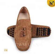 CWMALLS® Tasseled Leather Diving Loafers CW707119 Driving Shoes Men, Driving Loafers, Leather Tassel, Suede Leather, Diving, Textiles, Sneakers, Bags, Fashion