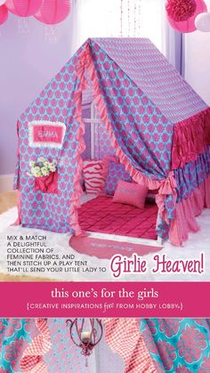 Hobby Lobby Project - This Oneu0027s For The Girls - Girl play tent with directions & Jude Lawu0027s Mill House in