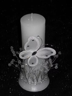 15 Velas Cilindricas Decoradas- Ceremonia De Velas 15 Años - $ 853,00 en Mercado Libre Candle Making Business, Pillar Candles, Decoupage, Christmas Wreaths, Centerpieces, Baby Shower, Party, Wedding, Yule