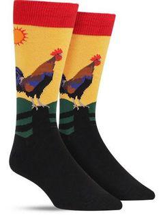 Early Riser Crazy Novelty Socks for Men, yellow