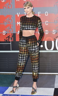 Stylish: Swift poses at the MTV Video Music Awards in Los Angeles on Aug 30...