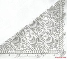 Crochet Instructions, Crochet Diagram, Crochet Motif, Crochet Stitches, Free Crochet, Crochet Patterns, Gilet Crochet, Crochet Scarves, Crochet Shawl
