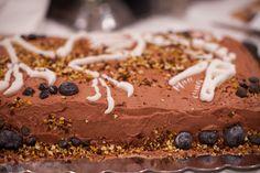 A dinosaur birthday cake decorated with fondant dinosaur bones @lucylean #birthday #cake #flourless chocolate cake