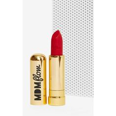 MDM Flow Lipstick (£12) ❤ liked on Polyvore featuring beauty products, makeup, lip makeup, lipstick, red, red lipstick и red lip makeup