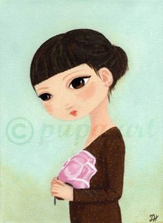 Dievčatko s magnóliou