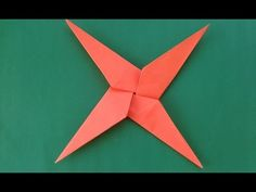 How To Make a Paper Ninja Star (Shuriken) - Origami - YouTube